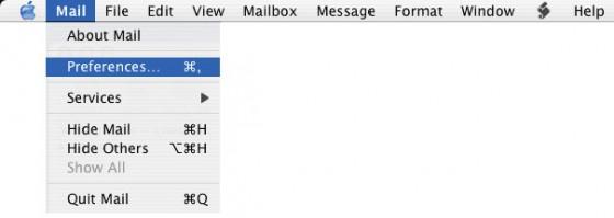 Levelezés beálíltása Mac OS X.3 e-mail kliensben