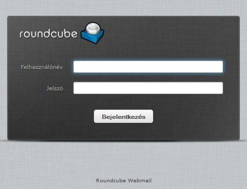 Bejelentkezés a Roundcube webmail levelezőbe